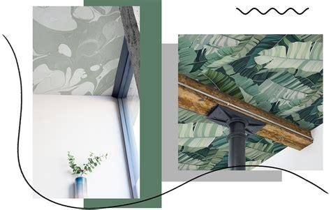 carta da parati soffitto carta da parati dove non ti aspetti anche sul soffitto