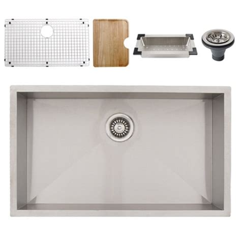 Undermount Stainless Steel Kitchen Sinks by Ticor S3510 Undermount 16 Stainless Steel Kitchen