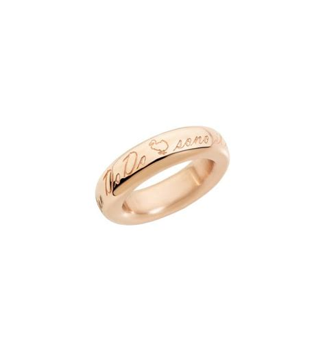 fedone dodo pomellato band ring 9 kt gold dodo official store