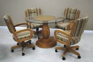 Design For Kitchen Chairs With Casters Ideas Alfa Dinettes Caster Dinette Sets