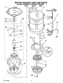 Bearing 6300 Wtw parts for whirlpool wtw6300sw1 washer appliancepartspros