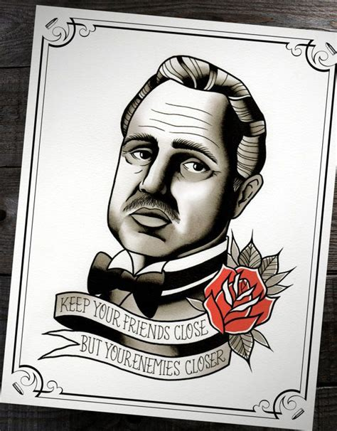 godfather tattoo designs the godfather don corleone traditional flash print