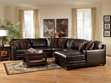 ashley furniture leather sectional with chaise leather chaise sectional style prefab homes unique