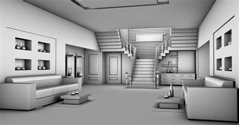 3d modelling home interior design in autodesk 2012