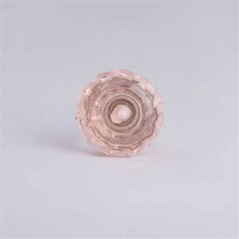 Small Glass Door Knobs by Faceted Glass Door Knob Small 3 5cm Pink Knobs Homeware