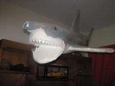 How To Make A Paper Mache Shark - 1000 images about sharks on shark cake shark