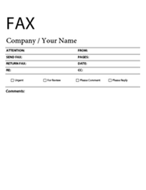 Free Fax Cover Sheet Templates Microsoft Fax Templates Free