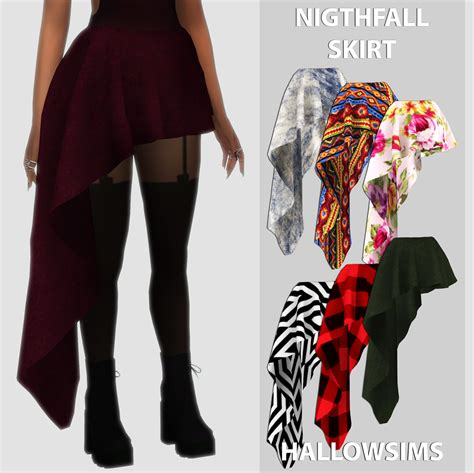 Hq 14685 Scarf Set Top Shorts by Nightfall Skirt Lycasims