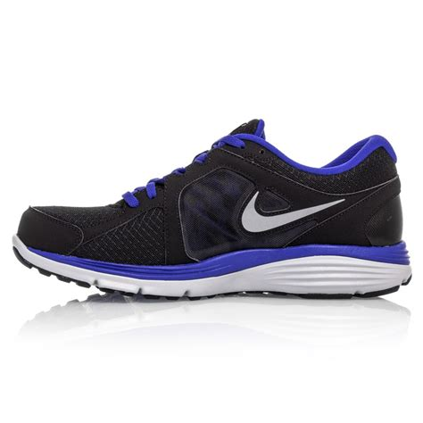 nike dual fusion run msl mens running shoes black blue
