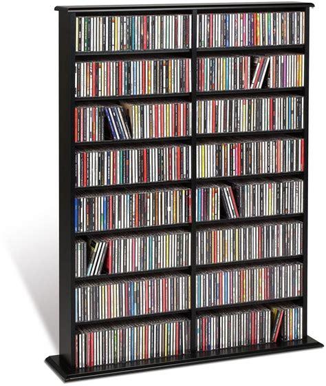 cd storage shelf large media tower wide dvd blu ray music