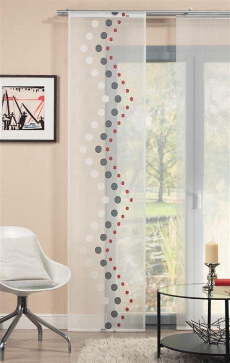 gardinen rot grau schiebevorhang fl 228 chenvorhang fl 228 chenschal 60x245cm punkte