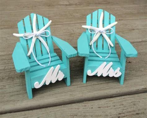 beach wedding cake topper mini adirondack chairs beach
