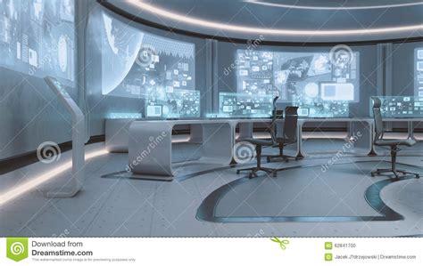 Spaceship Floor Plans 3d rendered empty modern futuristic command center