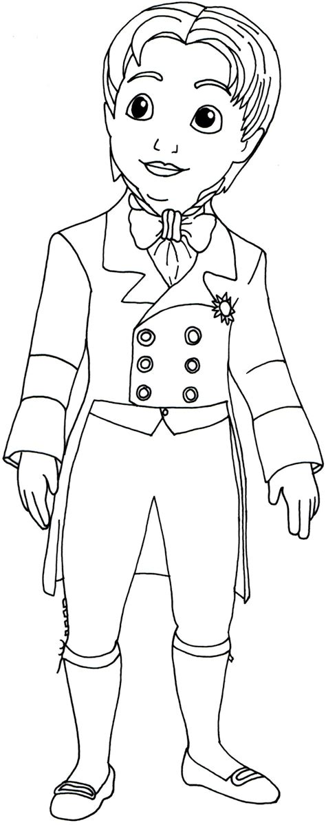 sofia the first coloring pages prince james sofia the