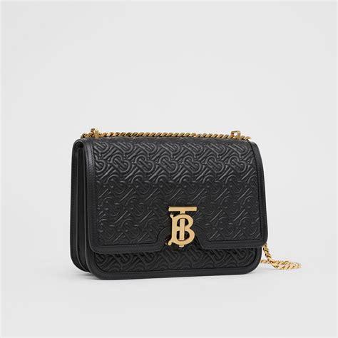 medium quilted monogram lambskin tb bag  black women