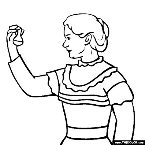 clara barton coloring page coloring pages for free