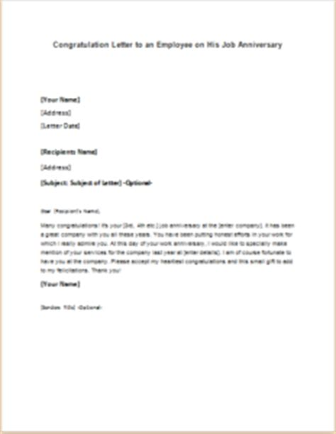 Response Congratulation Letter Congratulation Letter To An Employee On His Anniversary Writeletter2