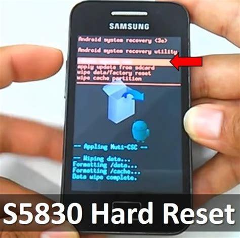 hard reset factory reset samsung galaxy ace 4 dokter hp s5830 hard reset restore galaxy ace to factory settings
