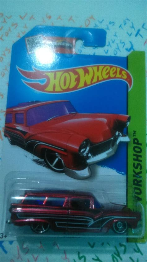 Hotwheels Reguler 8 wheels ford 8 crate roja versi 243 n regular th 2015