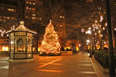 christmas photography backgrounds city lights street