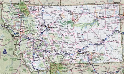 usa montana map large detailed roads and highways map of montana state