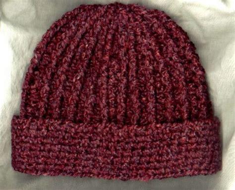 crochet hat pattern homespun yarn crocheted rib hat pattern mielke s fiber arts