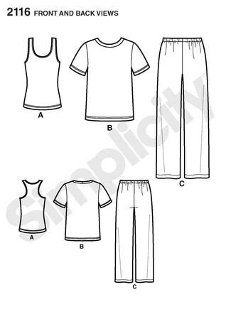 pattern review top ten simplicity 2116 misses and mens pants and knit top and