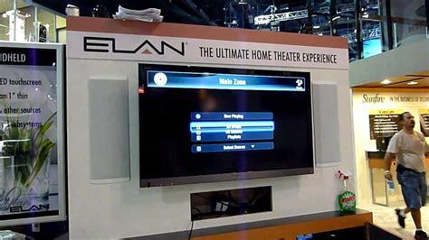 elan demos elan g home automation on tv interface at cedia