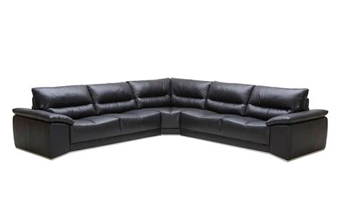Black Sectional Leather Sofa by Romano Black Leather Sectional Sofa Leather Sectionals