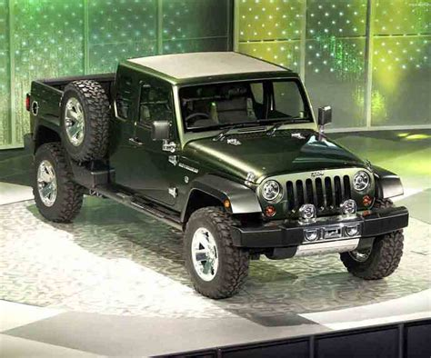 jeep concept truck jeep expected to name its wrangler based as gladiator