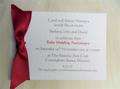 Single Card Wedding Invitations by Single Sided Wedding Anniversary Invitations