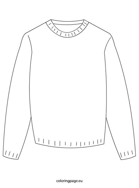 Winter – Sweater – Coloring Page