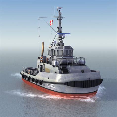 tugboat dwg 3ds max alsin y345 tug ships