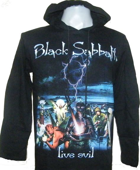 Tshirt Black Sabbath W black sabbath sleeved t shirt w hoodie live evil size