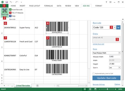 kode barcode ms excel barcode add in f 252 r microsoft excel strichcodes in excel