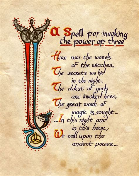 three s a charm magic and book six volume 6 books quot a spell for invoking the power of three quot charmed book