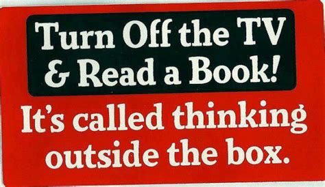 thinking out the how books turn the tv read a book it s called thinking outside