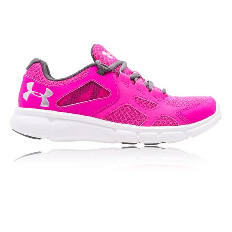 armour sneakers womens armour thrill womens pink running cushioned sports