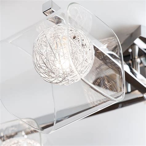 Ceiling Light Wires Verona 5 Light Wire Globe With Glass Shade Semi Flush Ceiling Light Chrome From Litecraft