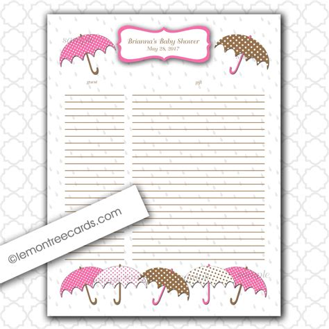 baby shower gift list template 8 best images of printable baby shower gift log baby