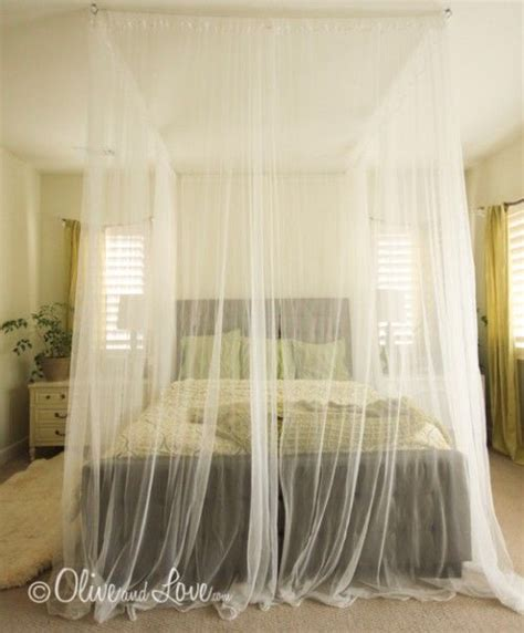 Ceiling Bed Canopy 5 Diy Ceiling Mounted Bed Canopies Shelterness Room Pinterest Beautiful Diy Canopy And