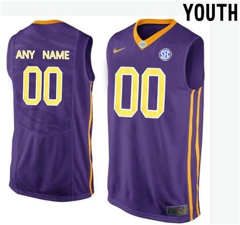 Customized Jersey Ncaa Basketball   new lsu tigers purple youth customized college basketball