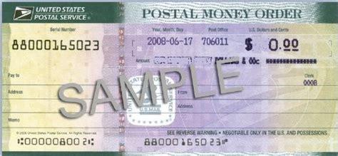 Money Order Post Office by Bank Deposit