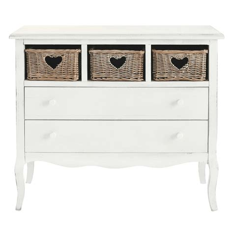 Chest Of Drawers In White by Wooden Chest Of Drawers In White W 90cm Gabrielle