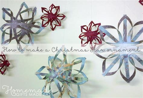 howtoput a star on a christmastree how to make a tree ornament step by step paper crafts