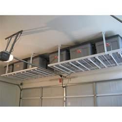 overhead storage shelves diy garage storage overhead storage 4x8