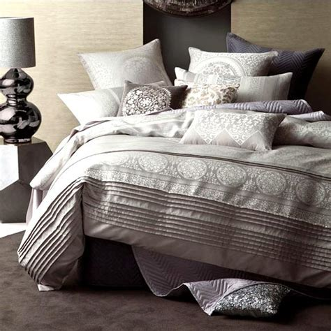 Doona Or Quilt by Linen House Nadina Grey Jacquard King Quilt