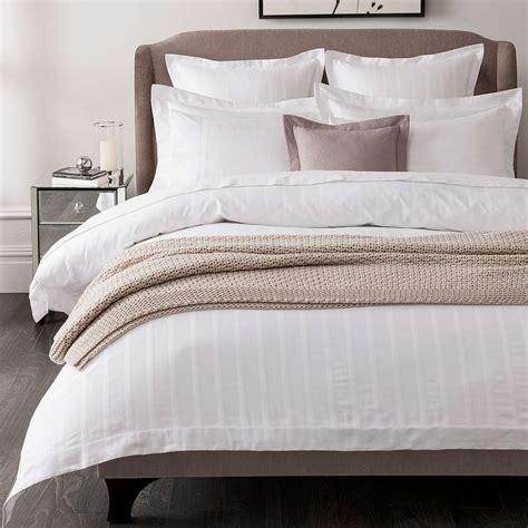 herringbone bedding hotel white herringbone 300 thread count bed linen