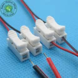 10x 2p spring connector wire with no welding no screws quick connector