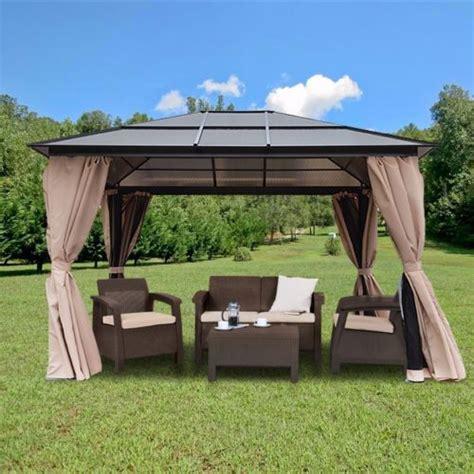 10 x 12 hardtop gazebo canopy w mosquito netting